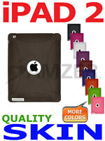 Amzer Grey Silicone Skin Jelly Case For Apple iPad 2