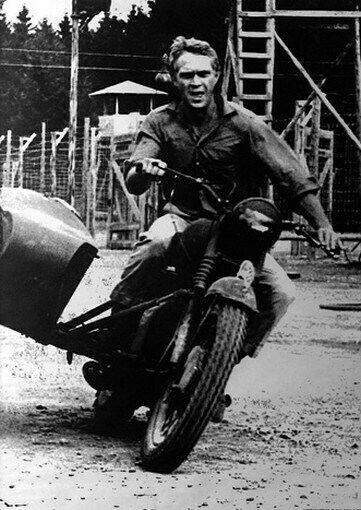 the great escape movie poster steve mcqueen motorcycle ebay. Black Bedroom Furniture Sets. Home Design Ideas
