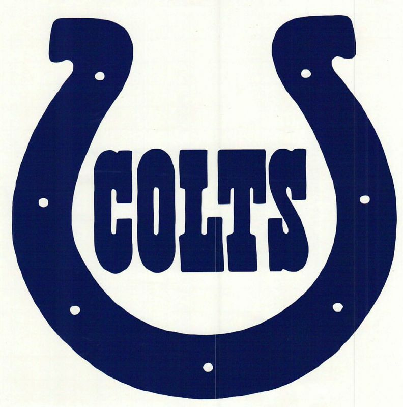 Nfl Football Cornhole Car Indiana Colts Vinyl Decal Ebay