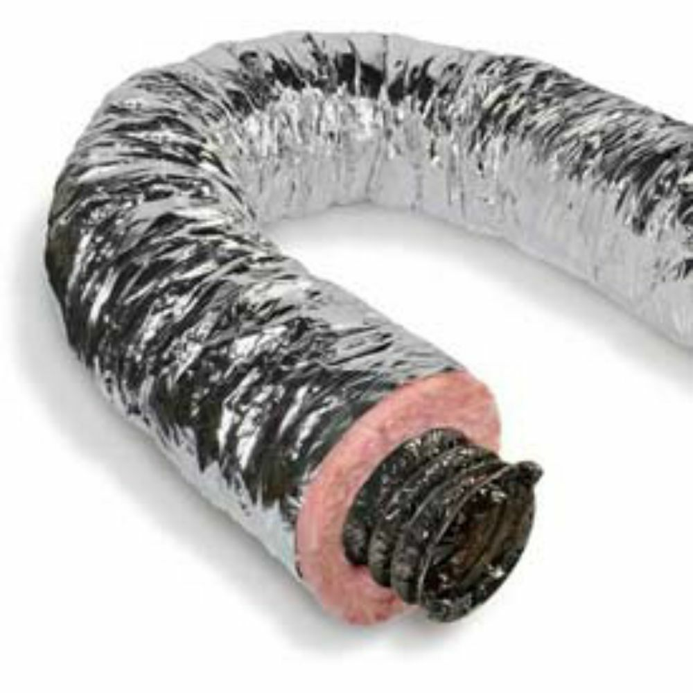 Quot silver flex quietflex insulated flexible duct r ebay