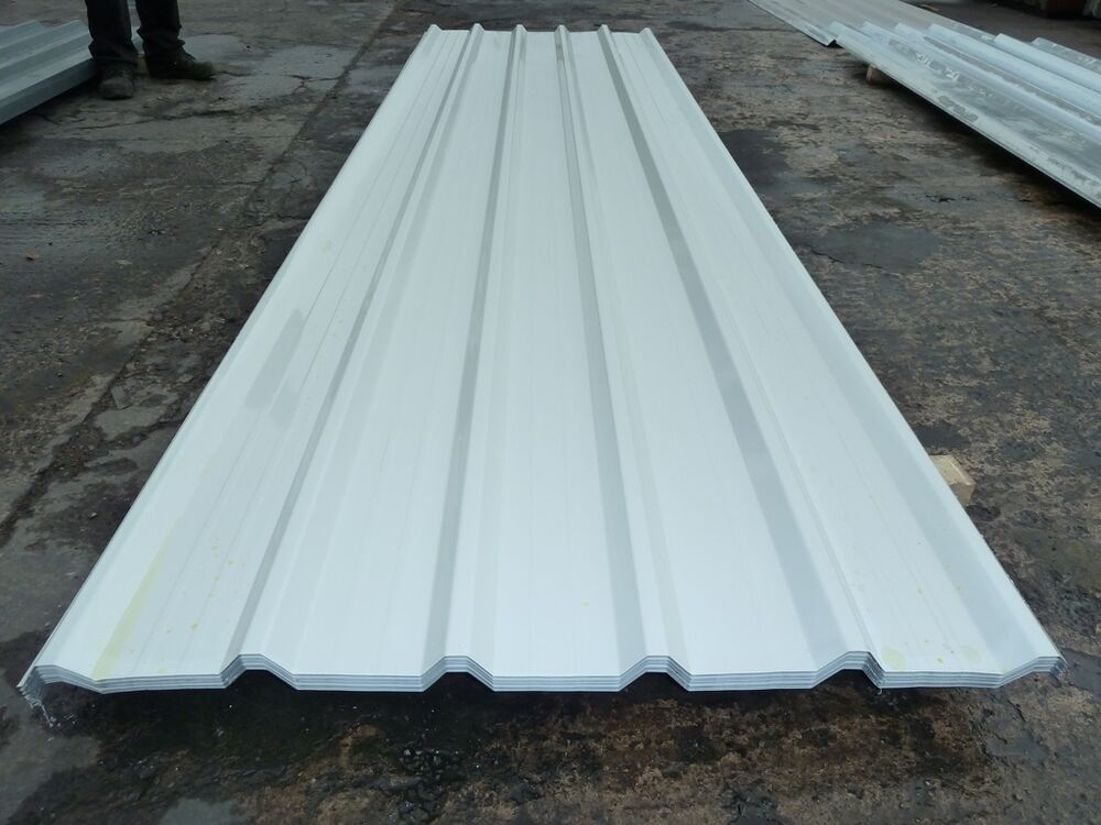 ROOFING SHEETS - PURE WHITE BOX PROFILE LINER PANELS | eBay