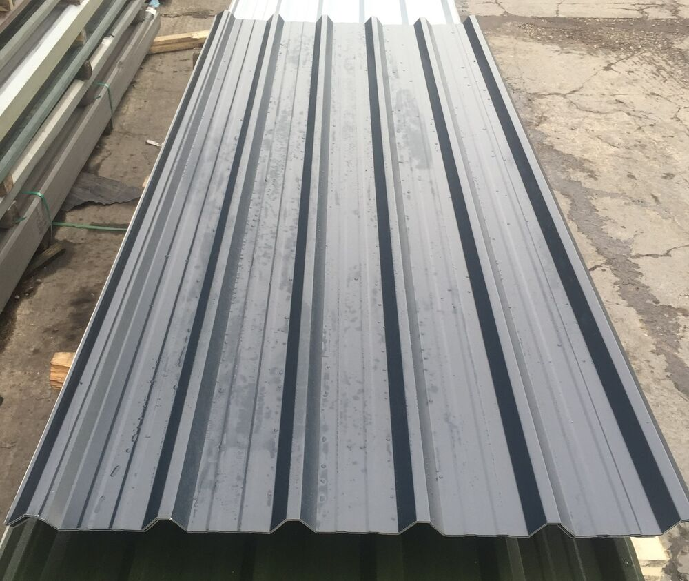 Roofing Sheets Slate Grey Pvc Box Profile Ebay