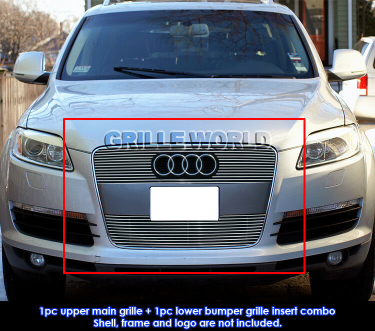 for 2007 2012 audi q7 billet grille grill insert ebay. Black Bedroom Furniture Sets. Home Design Ideas