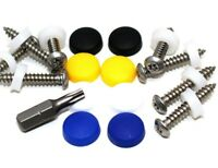 """17 PCE NUMBER PLATE SECURITY SCREW KIT, 1"""" PIN TORX SECURITY SCREWS & DOME CAPS"""