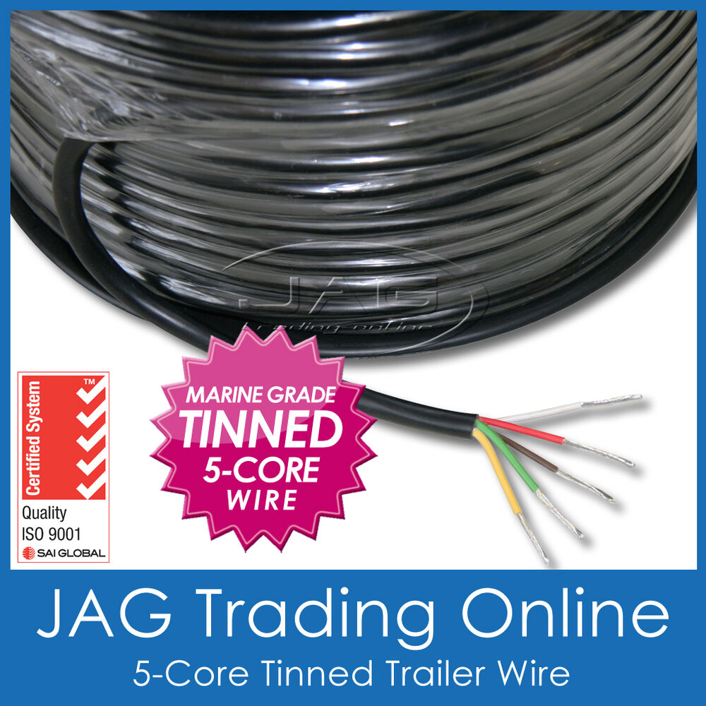 5 Core Marine Grade Tinned Wire Boat Trailer Automotive Rv Electrical Wiring Cable Ebay