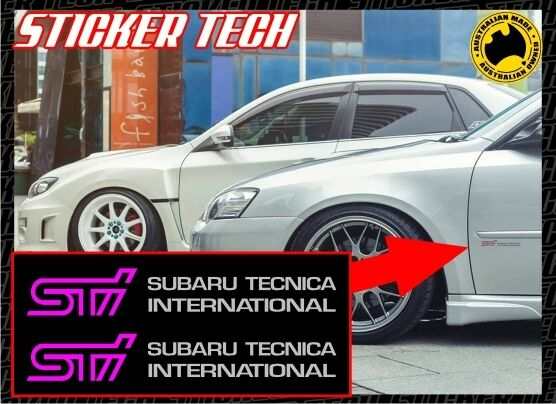 sti subaru tecnica international vinyl sticker decal set. Black Bedroom Furniture Sets. Home Design Ideas