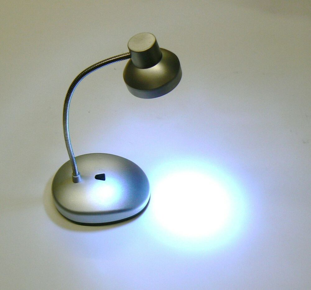 Led battery operated table lamps - Led Mini Table Lamp Gooseneck Desk Lamp 14 Led With Battery Small Mini Size