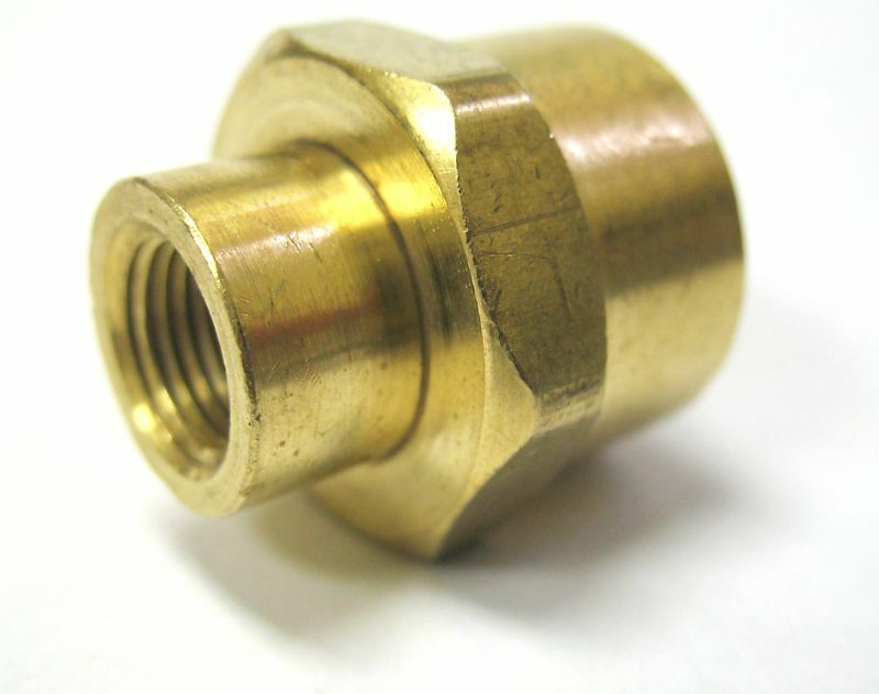 Pc brass pipe female coupling reducer  quot npt