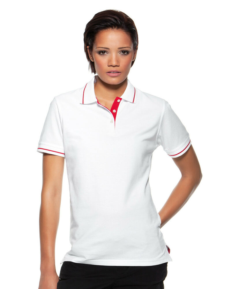 Womens Ladies Plain White Cotton Pique Short Sleeve Tennis