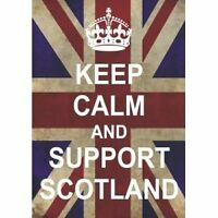 P2587 KEEP CALM AND CARRY ON SUPPORT SCOTLAND POSTER BN