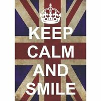 P2594 KEEP CALM AND CARRY ON SMILE FUNNY FUN POSTER NEW