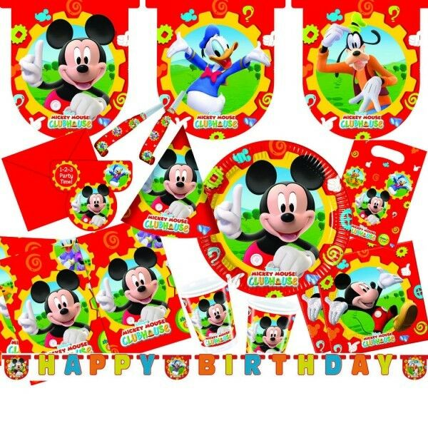 micky maus mickey mouse kindergeburtstag geburtstag set ebay. Black Bedroom Furniture Sets. Home Design Ideas