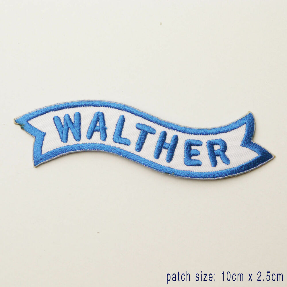 walther firearms manufacturer logo patch ebay