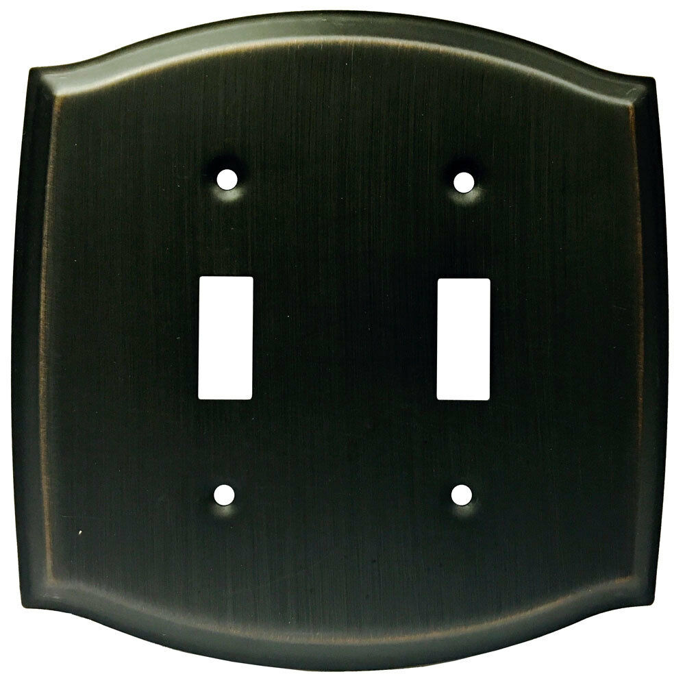 Oil Rubbed Bronze Double Toggle Switch Wall Plate Ebay