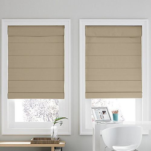 Linden Street Cotton Thermal Roman Shade Blind 64l Nip Ebay
