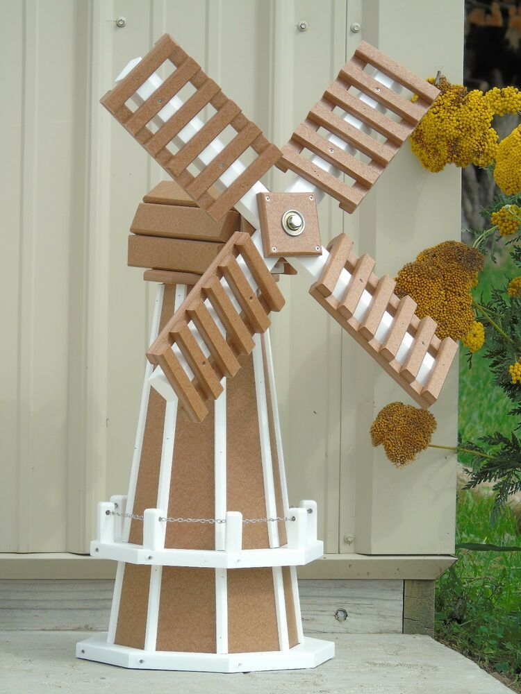 30 Quot Poly Wood Dutch Windmill Carmel With White Trim Lawn