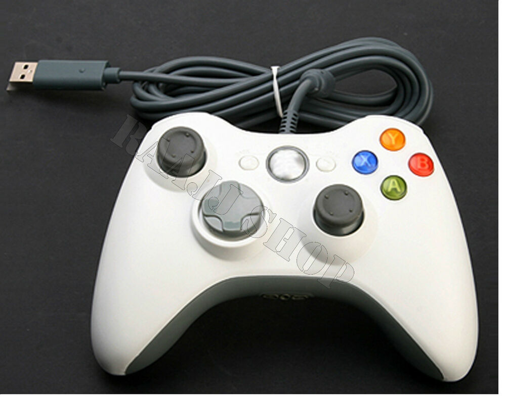 WHITE BRAND NEW USB WIRED CONTROLLER FOR MICROSOFT XBOX ...
