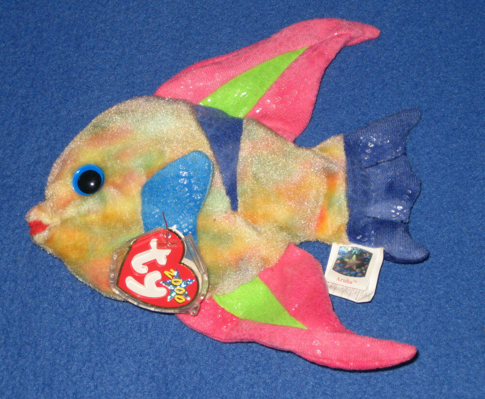 Ty aruba the fish beanie baby mint with mint tag ebay for Fish beanie baby