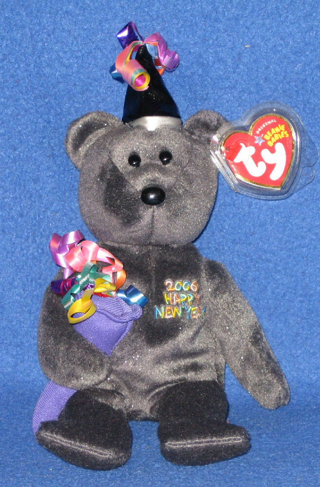 TY 2006 the NEW YEAR BEAR BEANIE BABY - MINT with MINT ...