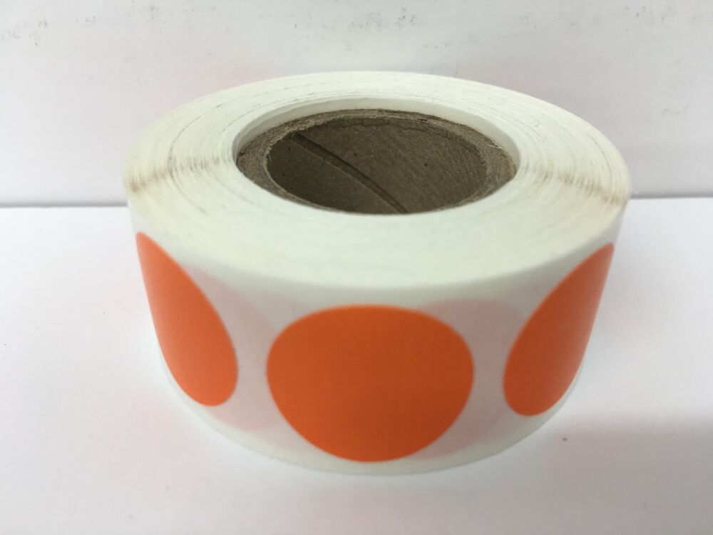 12 Rolls 500 Each Roll 1 Quot Inch Round Color Coded Inventory Dots Labels 2 Ebay