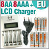 8 AA 8 AAA 1350 3000 mAh Ultra + Quick LCD Rechargeable battery charger EU