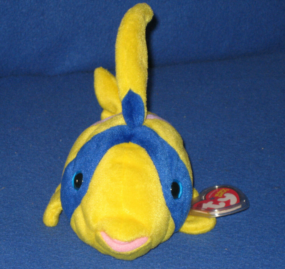 Ty oriel the angel fish beanie baby mint retired ebay for Fish beanie baby