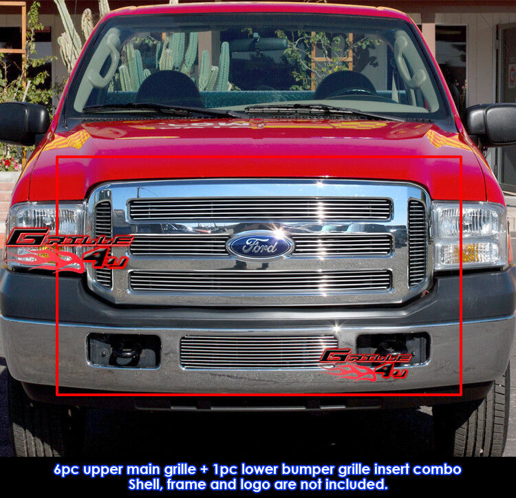 2005 Ford Super Duty Spec: Fits 2005-2007 Ford F250/F350 Super Duty Billet Grille