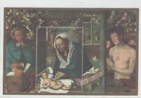 Paraguay stamp S/S MNH   Michel  bl 370 Sc c 500  painting ART Christmas