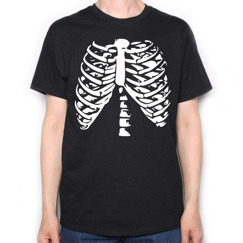 Halloween t shirt rib cage halloween costume horror t for Costume t shirts online