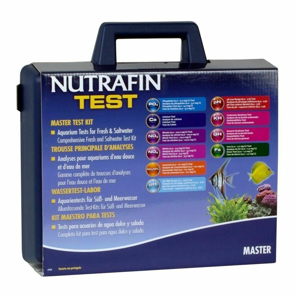 Nutrafin hagen master water 10 diff test kit tropical for Saltwater fish tank kits