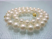 """9-10MM AAA GRADE WHITE AKOYA PEARLS NECKLACE 18"""" 14K"""