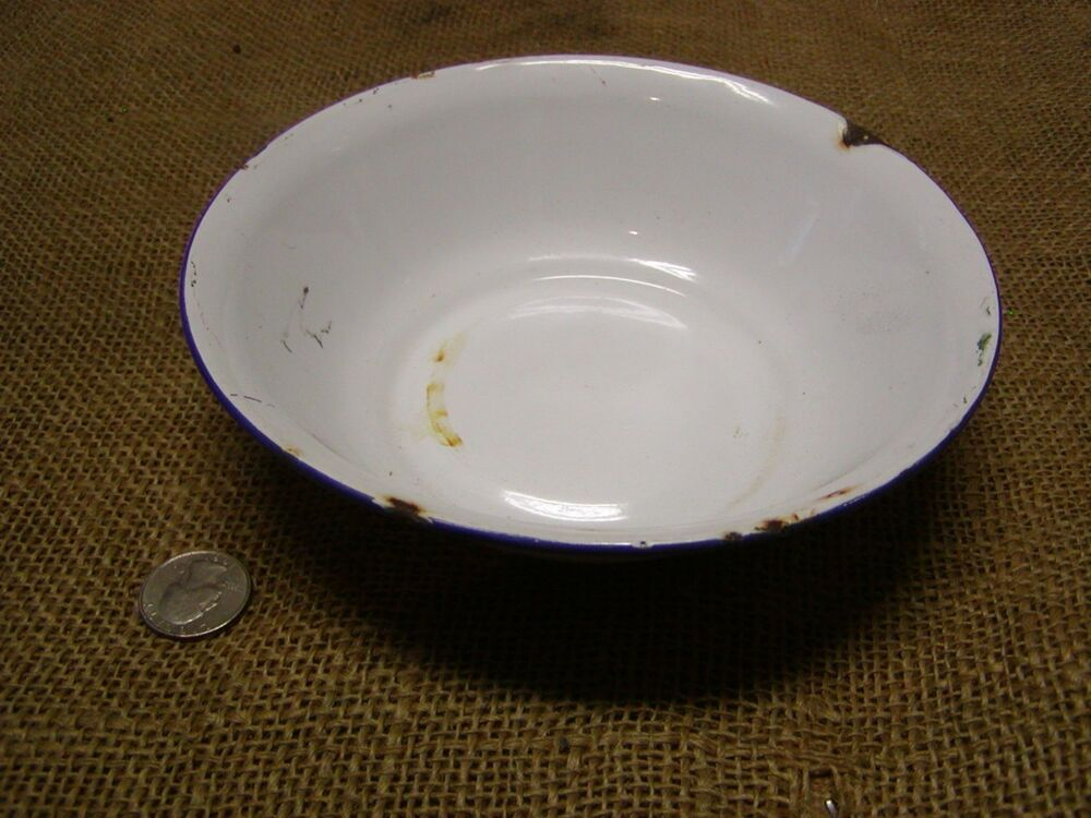 Vintage Porcelain Dish Pan Antique Bowl Bumper Harvest
