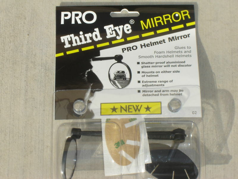 Third Eye Helmet Mirror Bike Bicycle Riding Black Pro 3rd