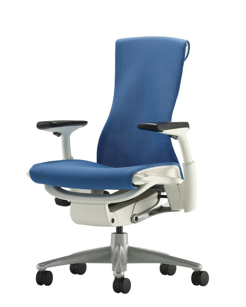 herman miller embody office chair white frame titanium base berry blue rhythm ebay. Black Bedroom Furniture Sets. Home Design Ideas