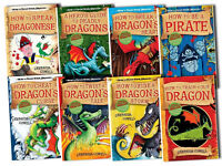 How to Trains Your Dragon Collection Cressida Cowell 8 Books Set Hiccup Pack New