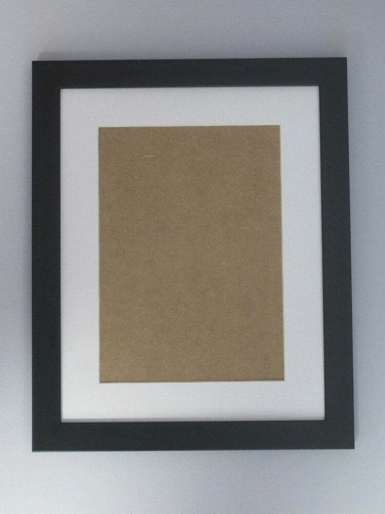 Black 11x14 Picture Photo Frame Mount 7x10 Hang Ebay