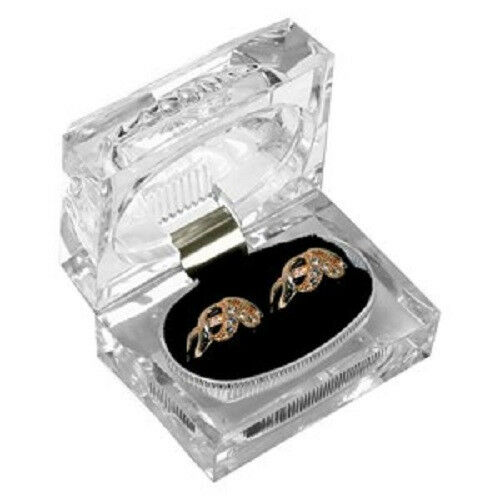Acrylic Jewelry Boxes : Jewelry beautiful clear acrylic crystal large ring