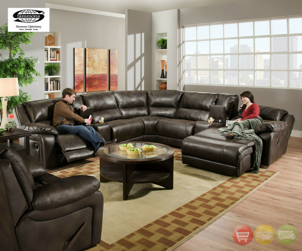 Black jack brown bonded leather sectional sofa w - Leather reclining sectional with chaise ...