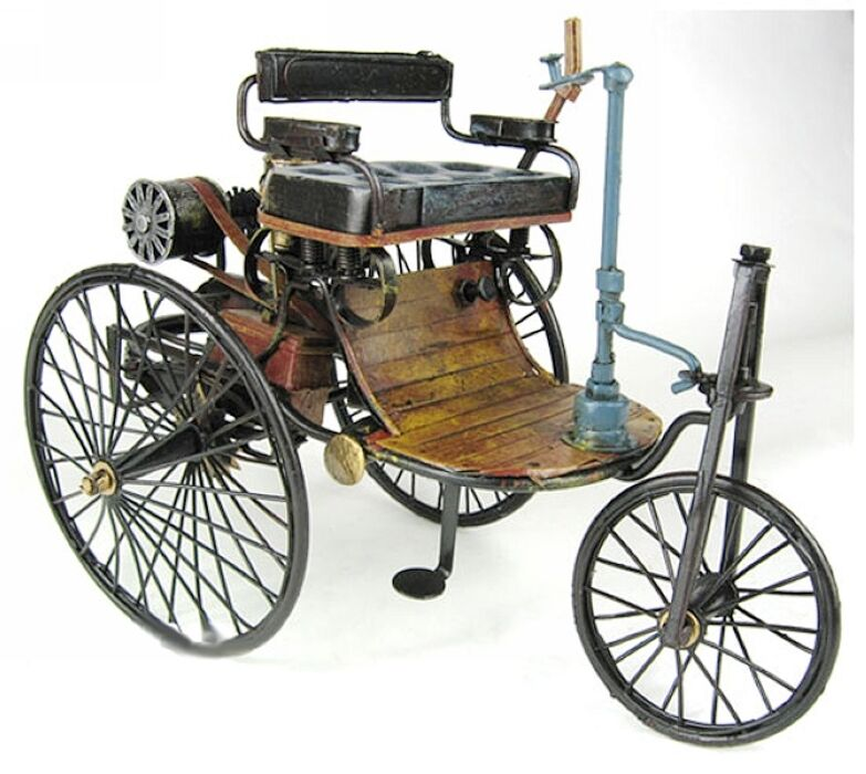 First Automobile Ever Made >> Vintage Hand Made Benz 1886 World First Old Car Model Metal Art Decor | eBay