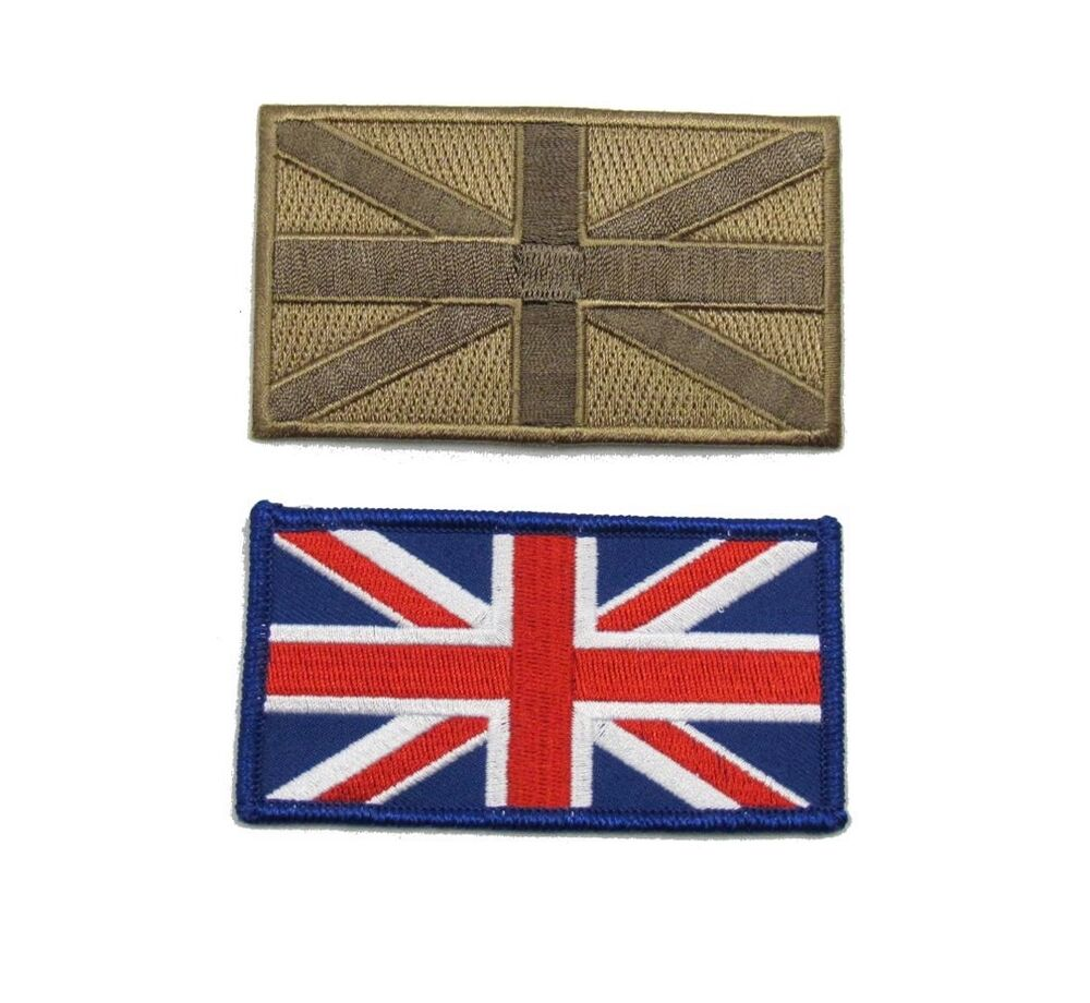 Schoudertas Union Jack : Union jack cloth badge embroidered two colour pack r