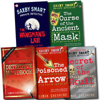 Saxby Smart Private Detective Series Collection Simon Cheshire 5 books set Pack