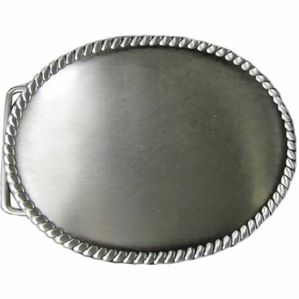 belt buckle blank new 1764 00 tandy leathercraft oval rope