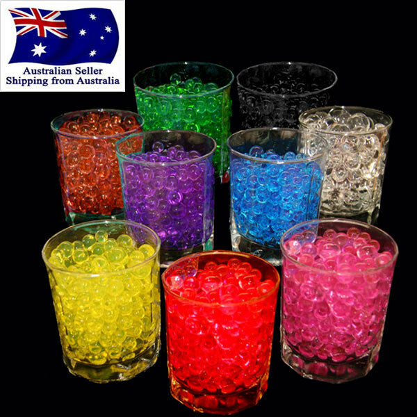 10g Crystal Soil Water Pearls Jelly Balls Beads Wedding