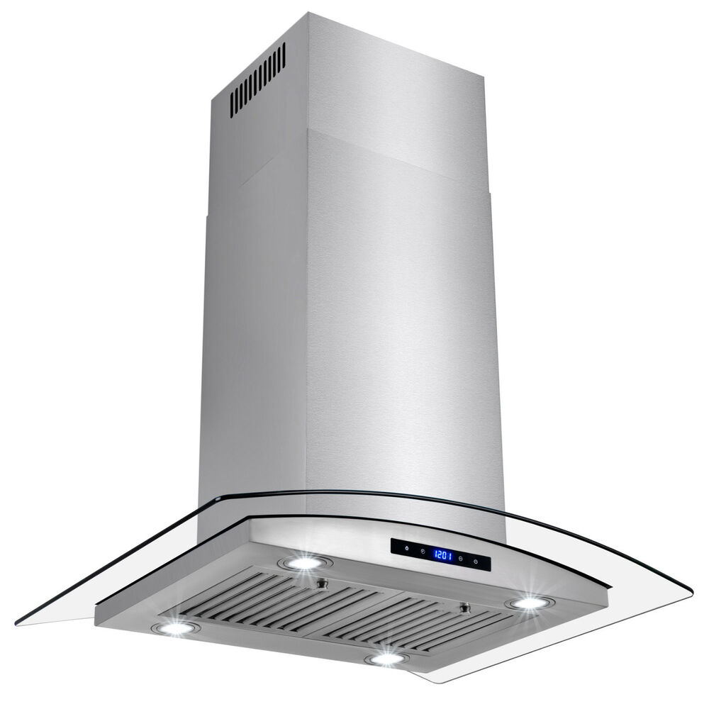 Ductless Vent Hoods For Cooktops ~ Kitchen quot glass island canapy stainless steel ductless