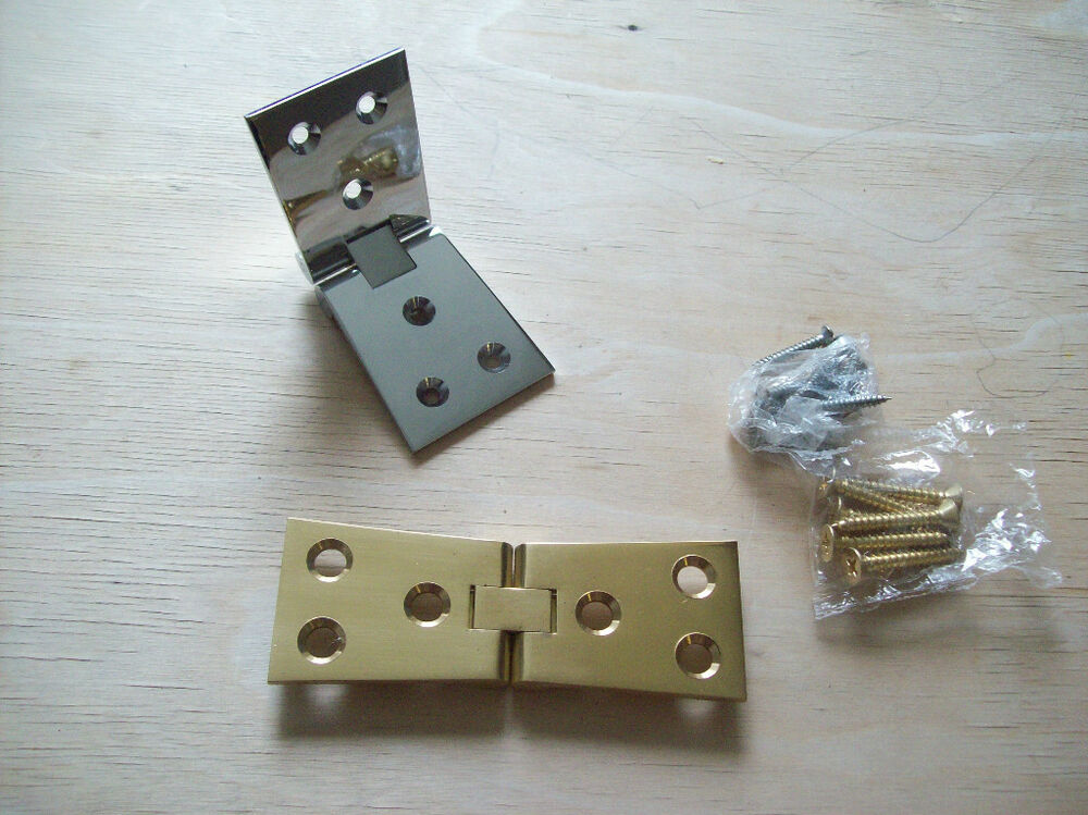 """4""""/100mm Solid Brass chrome counter flap backflap hinges ..."""