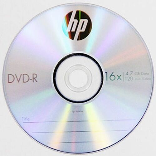 Details about  10 HP Logo 16X DVD-R DVDR Recordable Blank Disc Media 4.7GB with Paper Sleeve