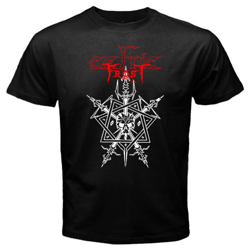 New Celtic Frost Gothic Black Metal Rock Band Mens Black T