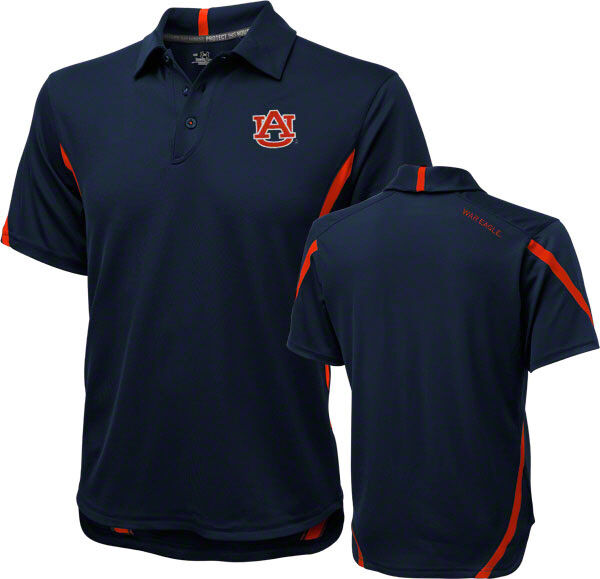 Auburn under armour sideline polo navy and orange war for Auburn war eagle shirt