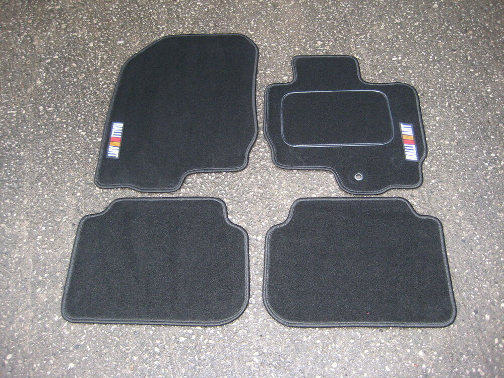 Car Mats In Black To Fit Mitsubishi Colt 2004 2009