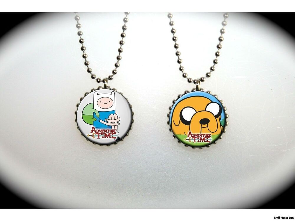 Adventure Time Fin And Jake 2 Sided Necklace Ebay